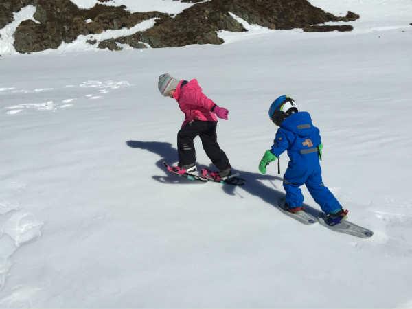 Kinder-Schneeschuhtest