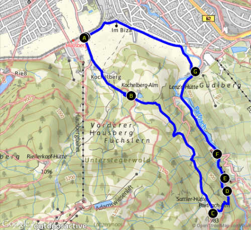 Tourverlauf Kochelbergalm_Partnachalm