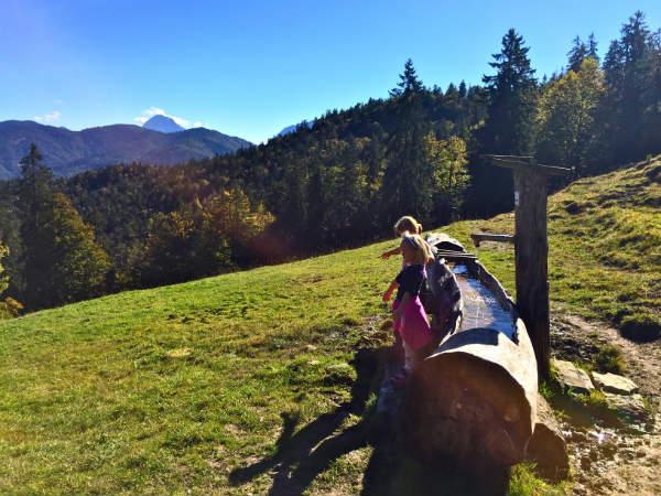 Wandern mit Kindern zur Hochalm