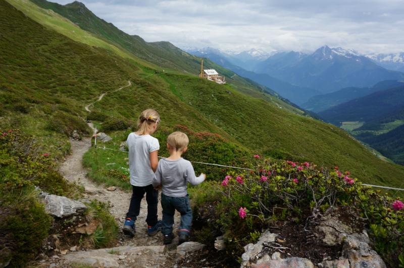 Mit Kindern auf Hütten: Wandern bei der Rastkogelhütte