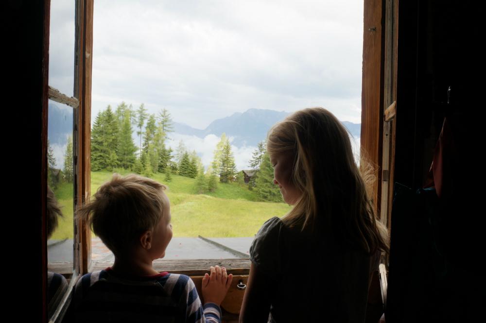 Mit Kindern auf Hütten: Aufwachen am Berg