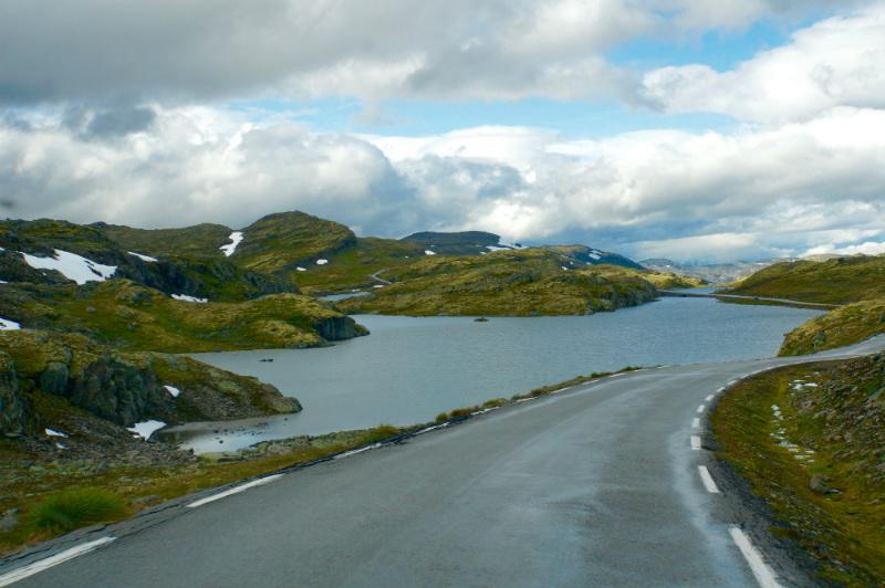 Typische Fjelldurchquerung in Fjordnorwegen