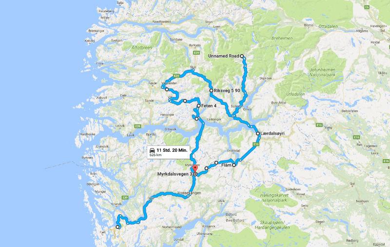 Familien Roadtrip Norwegen Sognefjord